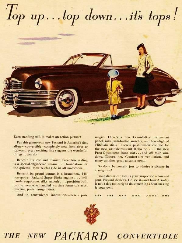 1948 PACKARD SUPER EIGHT CONV ADVERTISEMENT