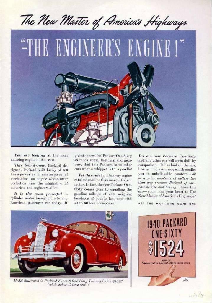 1940 PACKARD 160 SUPER EIGHT ENGINE&TOURING SEDAN