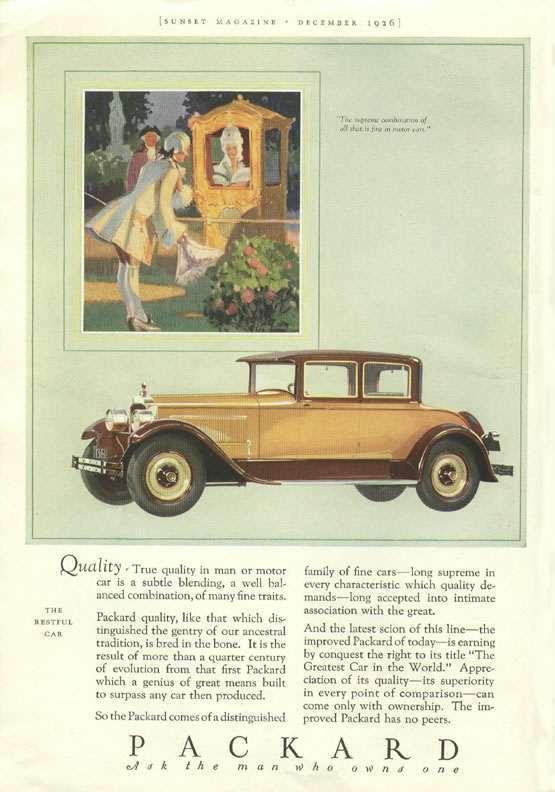 1926 PACKARD ADVERTISEMENT