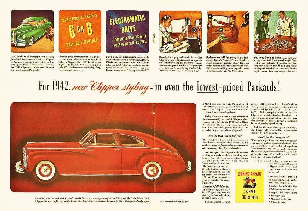 1942 PACKARD CLIPPER AD