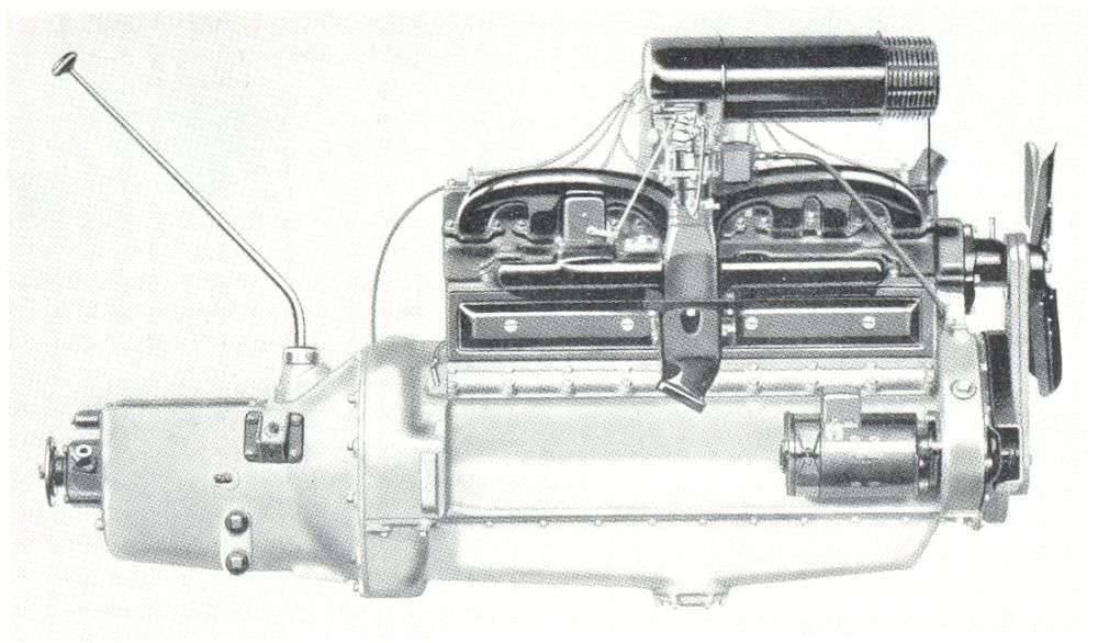 1934 Packard eight engine illustration