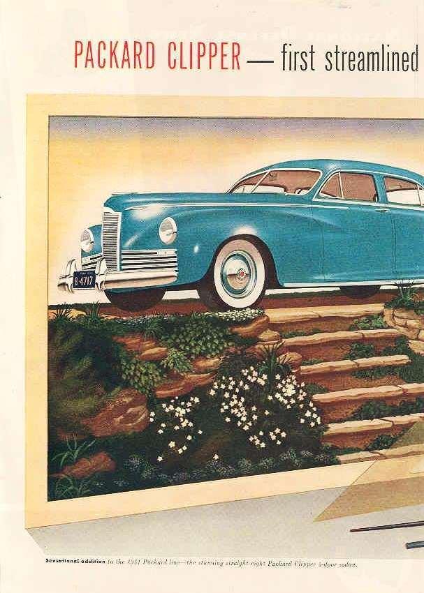 1941 PACKARD CLIPPER 4DR SEDAN ADVERT LH