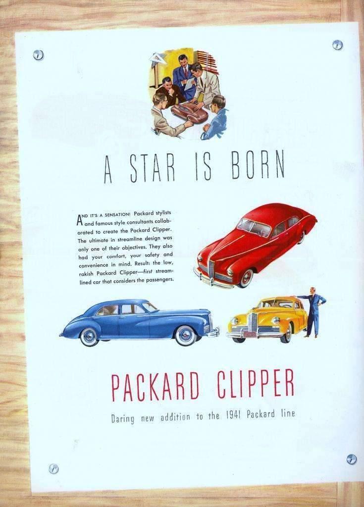 1941 PACKARD CLIPPER INTRO ADVERT