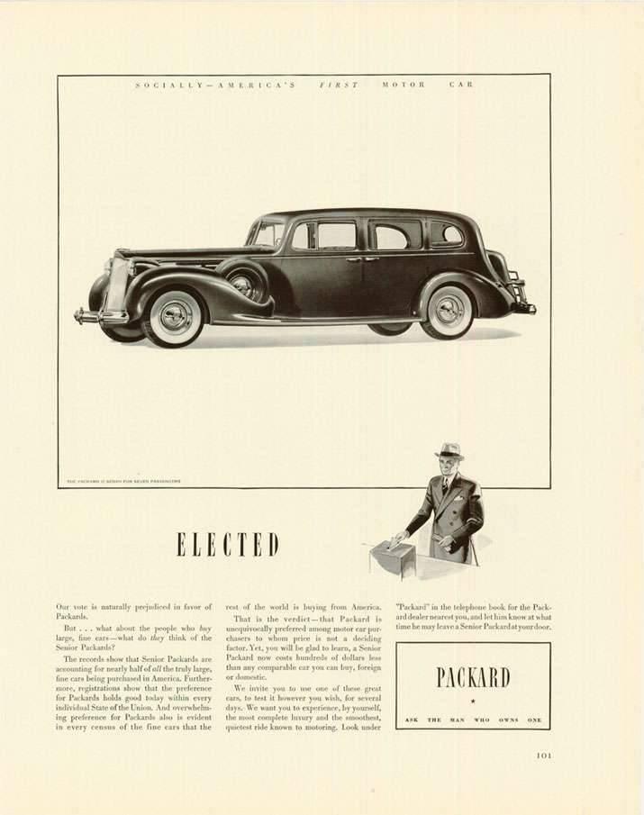 1938 PACKARD ADVERT
