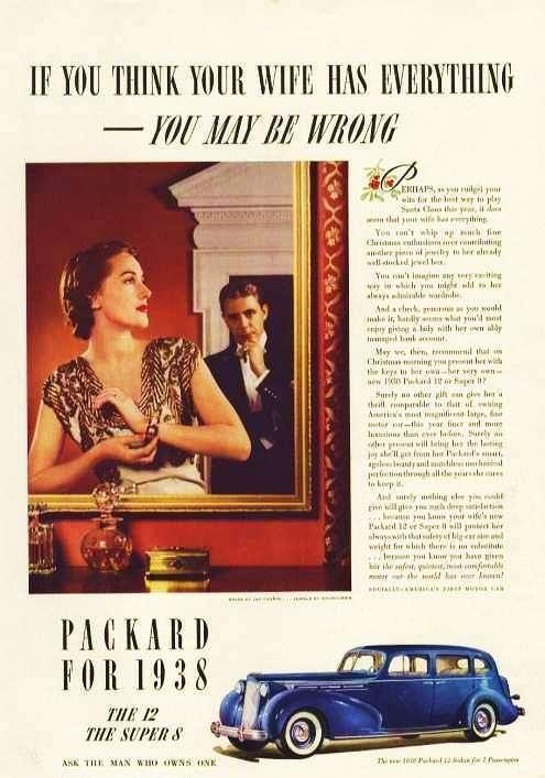 1938 PACKARD SEDAN ADVERT