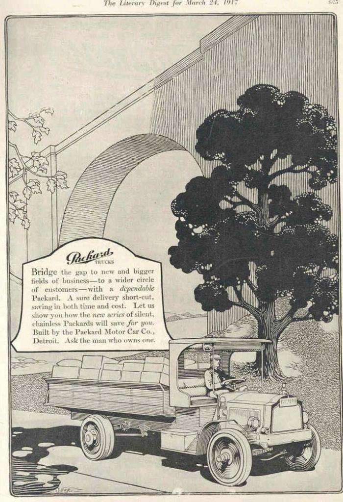 1917 PACKARD TRUCK ADVERT2-B&W