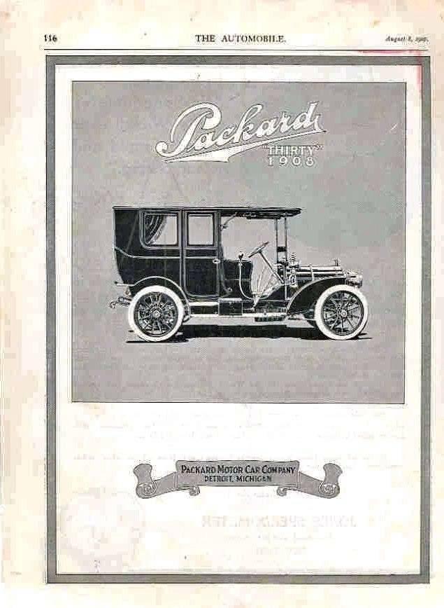 1908 PACKARD ADVERT-B&W