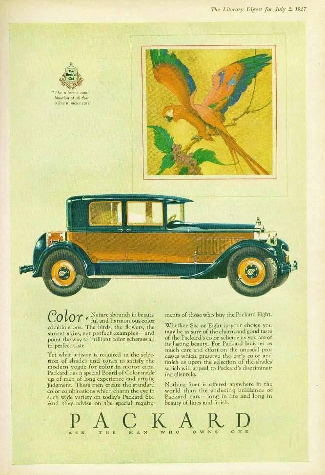 1927 PACKARD ADVERT - 'SUPREME COMBINATION'