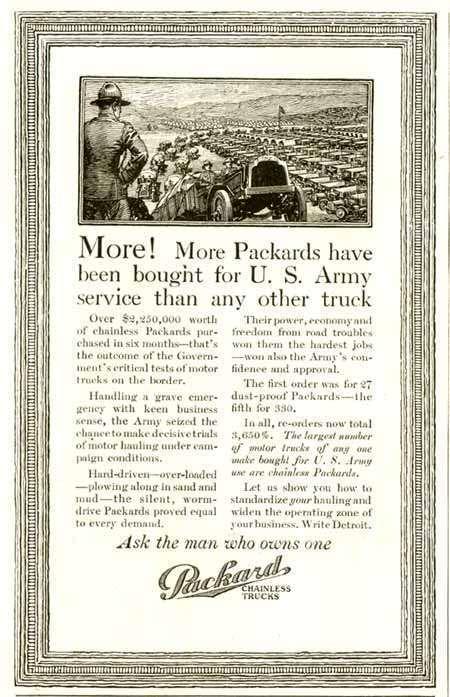 1916 PACKARD TRUCK ADVERT-B&W