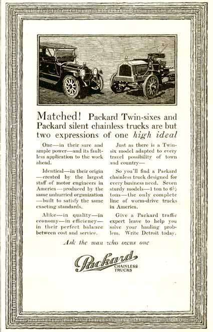 1916 PACKARD ADVERT-B&W