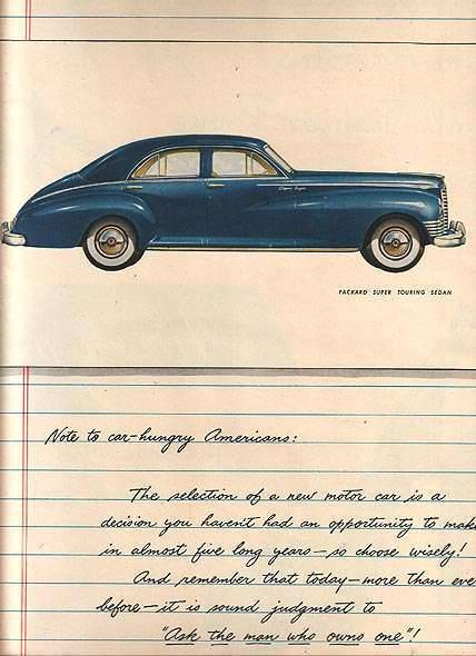 1947 PACKARD ADVERT