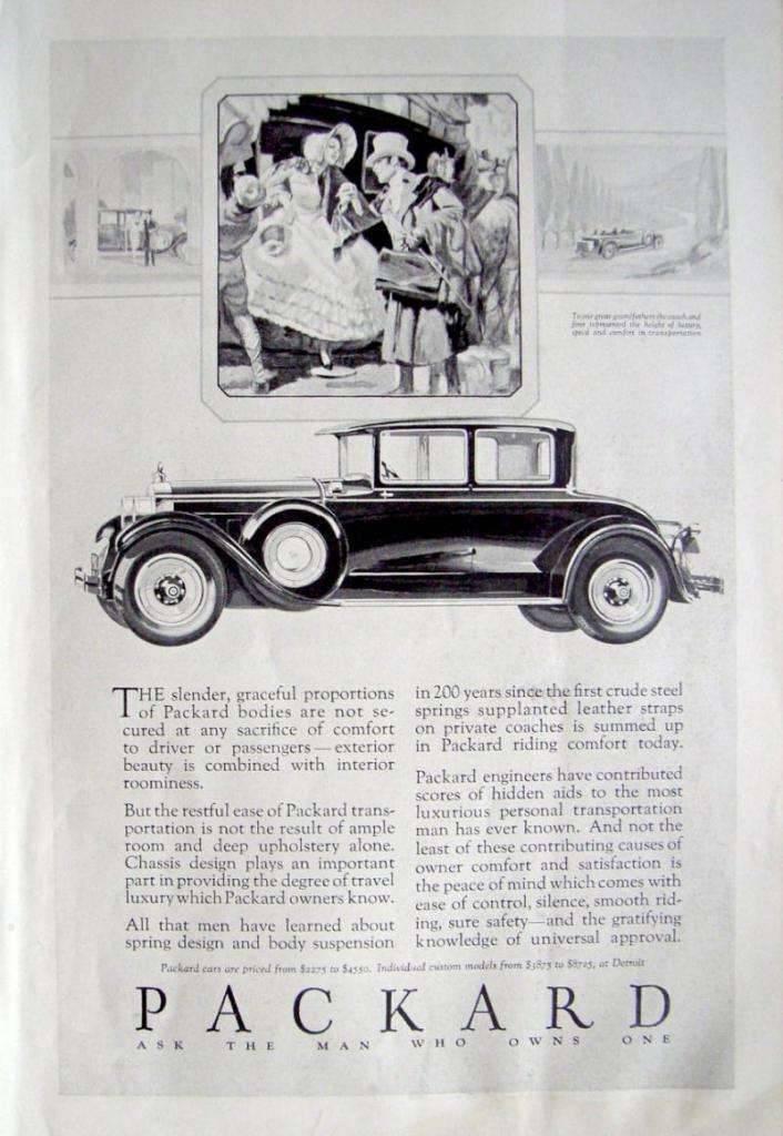 1928 PACKARD ADVERT-B&W