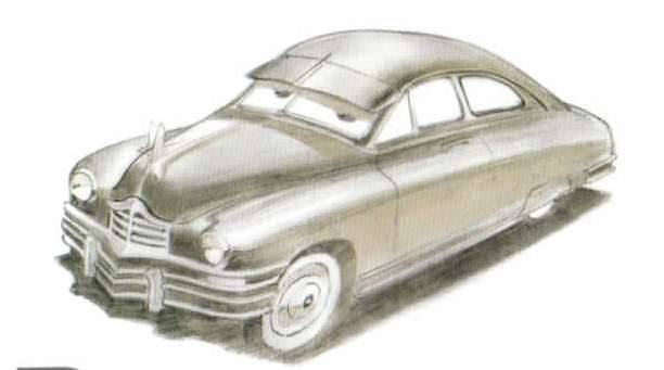 Pixar Movie Cars 1948 Packard dropped from final movie