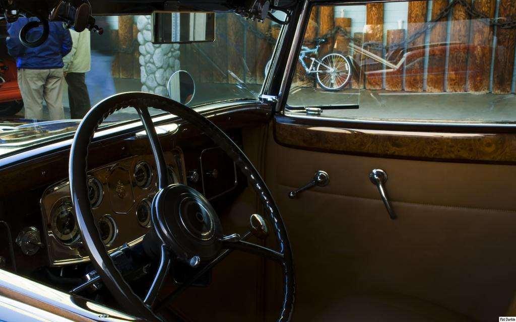 1934 Packard 1101 Convertible Sedan by Dietrich - black - dash
