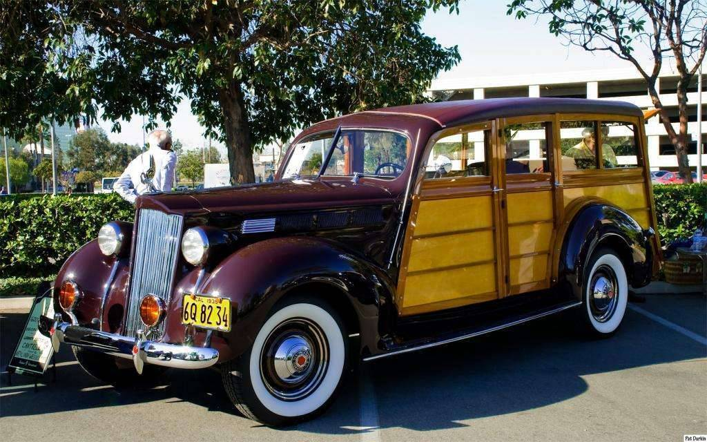 1938 Packard 1600 Station Sedan - brown - wooden body by Cantrell - fvl