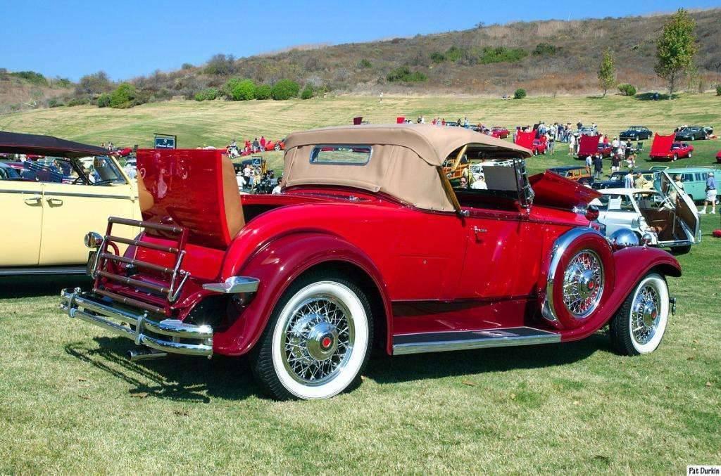 1931 Packard Roadster - red - rvr