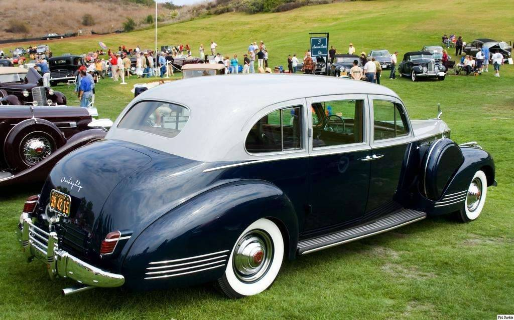 1941 Packard 1420 One Eighty Super 8 Custom Touring Limousine by LeBaron - lt gray over dk blue - rv