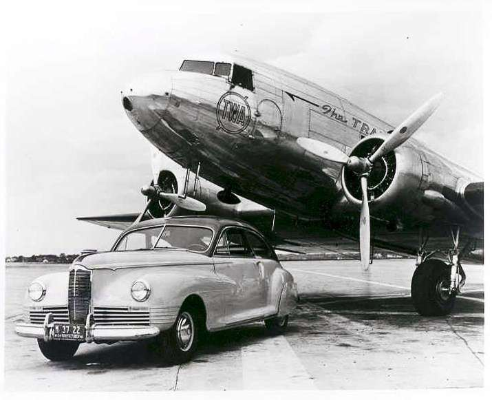 1942 PACKARD CLIPPER WITH DC3-B&W