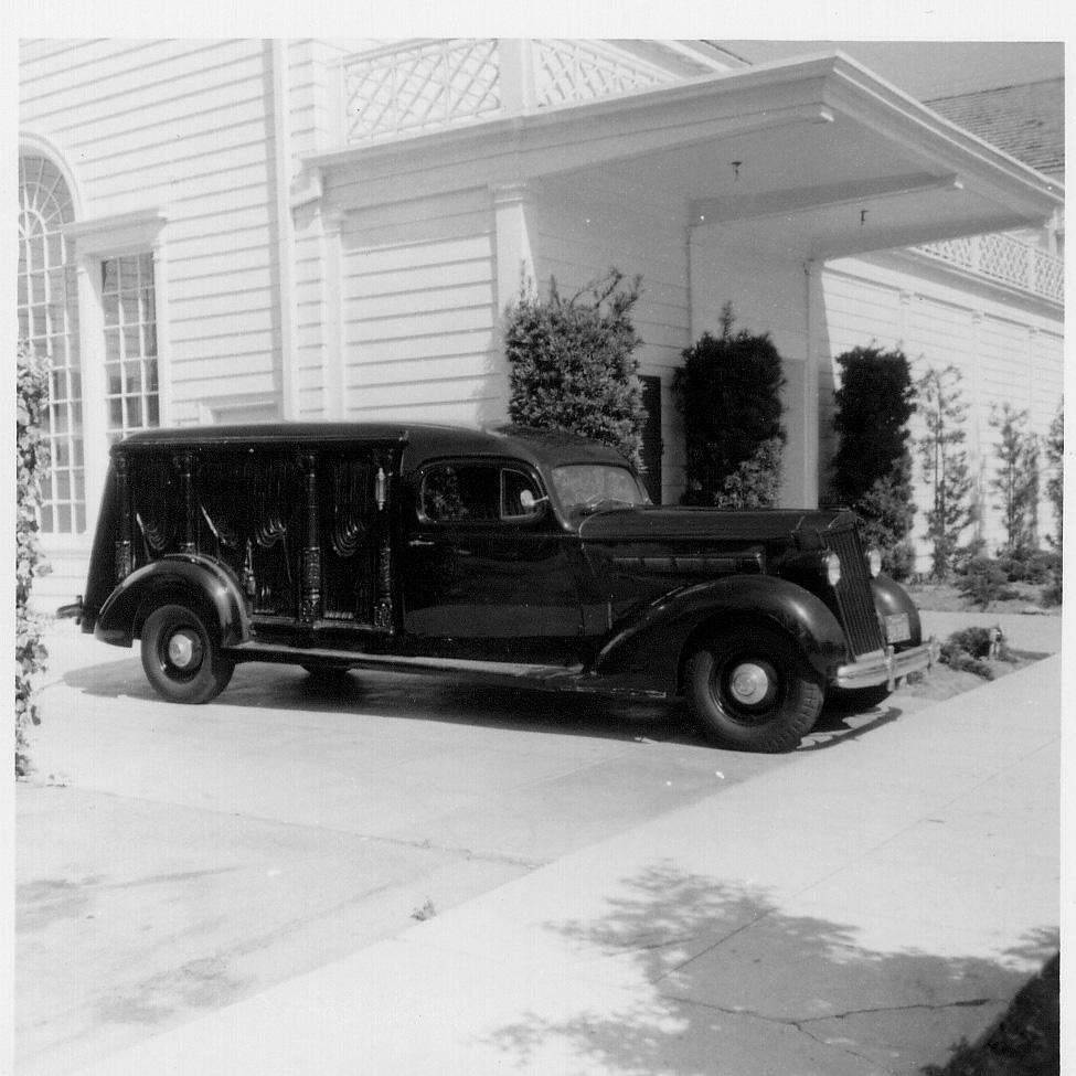 1936 PACKARD CARVED SIDE HEARSE PRESS PHOTO-B&W