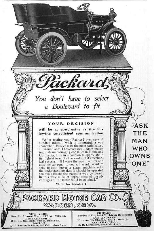 1903 PACKARD ADVERT-B&W