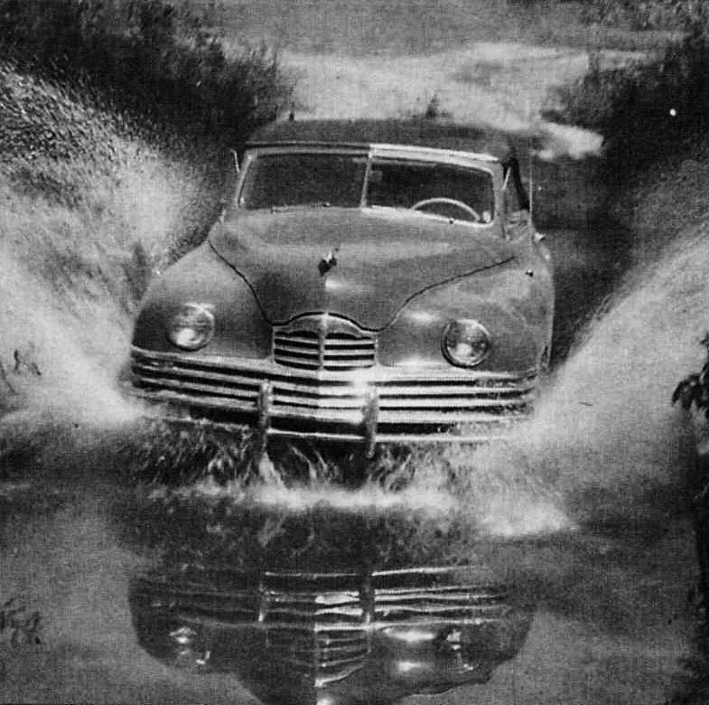 1948 PACKARD SUPER EIGHT CONV VICTORIA AT PROVING GROUNDS PRESS PHOTO-B&W