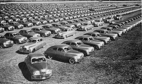 1949 PACKARD GOLDEN ANNIV CARS PRESS PHOTO-B&W