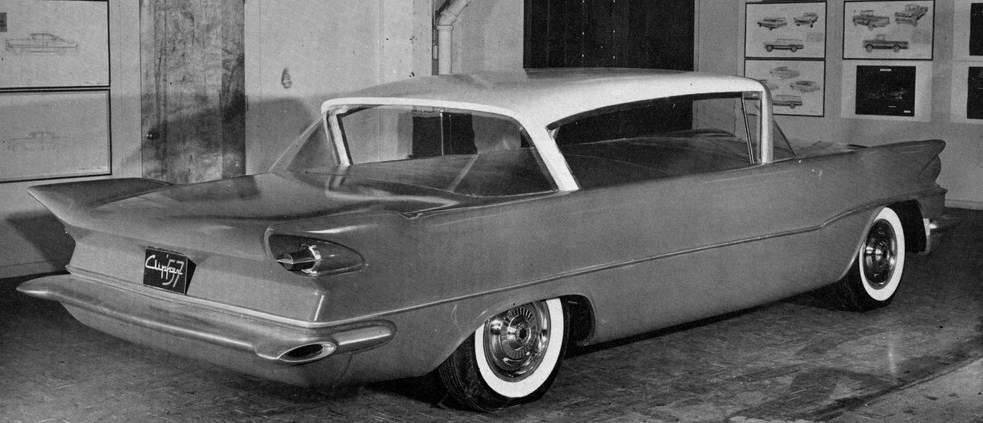 1957 PACKARD CLIPPER STYLING CONCEPT-B&W