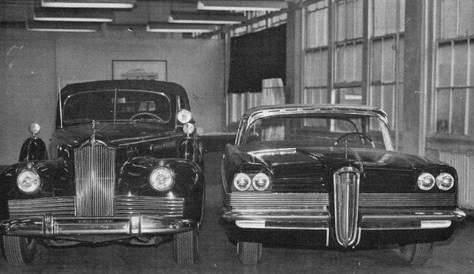 1957 PACKARD STYLING CONCEPT COMPARISON-B&W