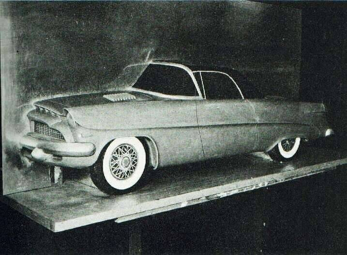 1953 PACKARD PANTHER CONCEPT CLAY PRESS PHOTO-B&W