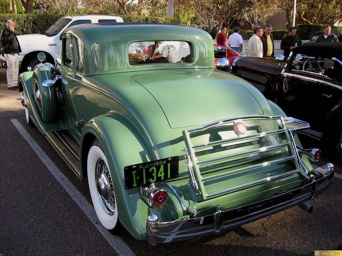 Packard 1934 Twelve 2dr cpe Grn lsrv