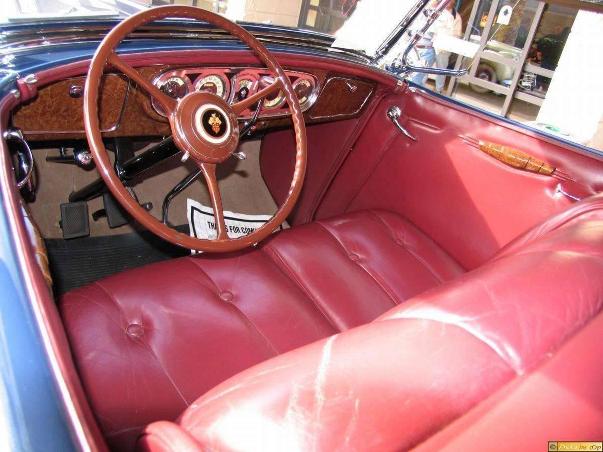 Packard 1936 Dual-Windshield Phaeton Blu intrr-f