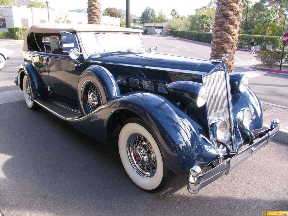Packard 1936 Dual-Windshield Phaeton Blu rsvf