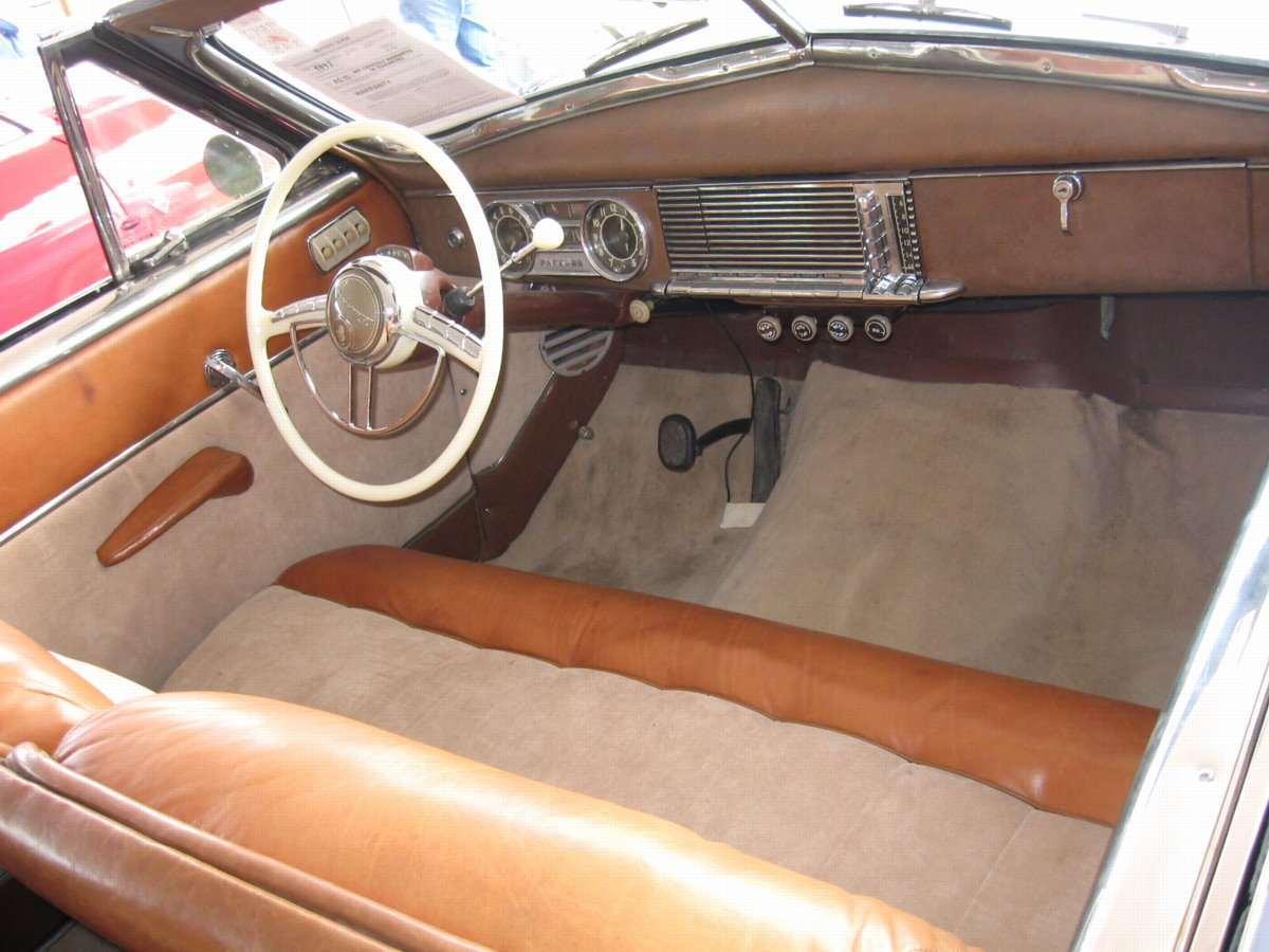 Packard 1950 Victoria Deluxe Super 2dr cnvt Slvr intrr-f-1