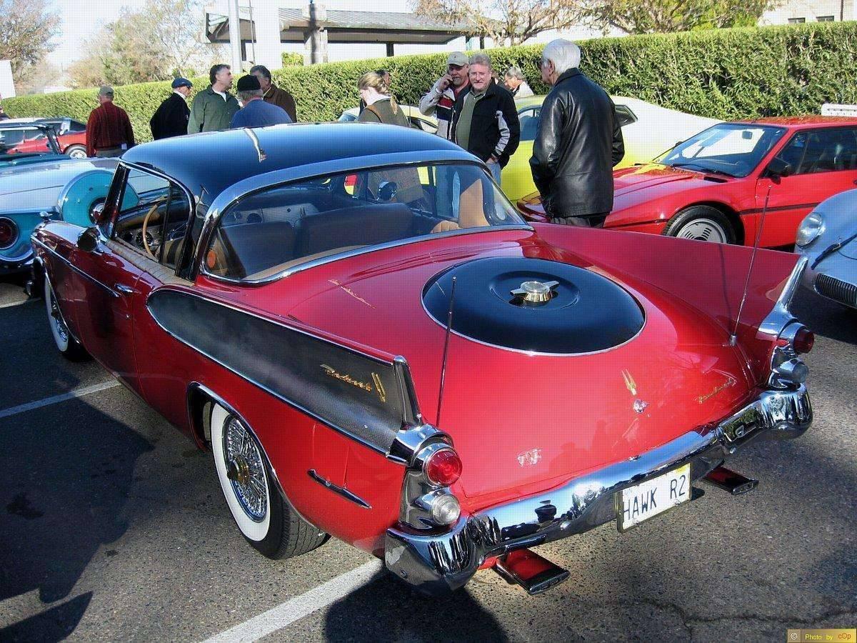 Packard 1958 Hawk 2dr ht cpe RedBlk lsrv