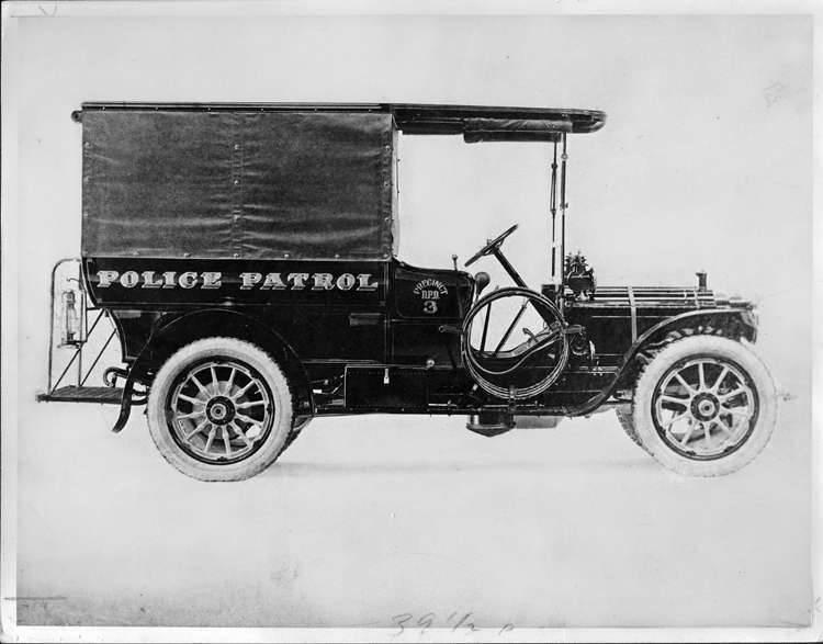 1908 PACKARD TRUCK POLICE PATROL-B&W