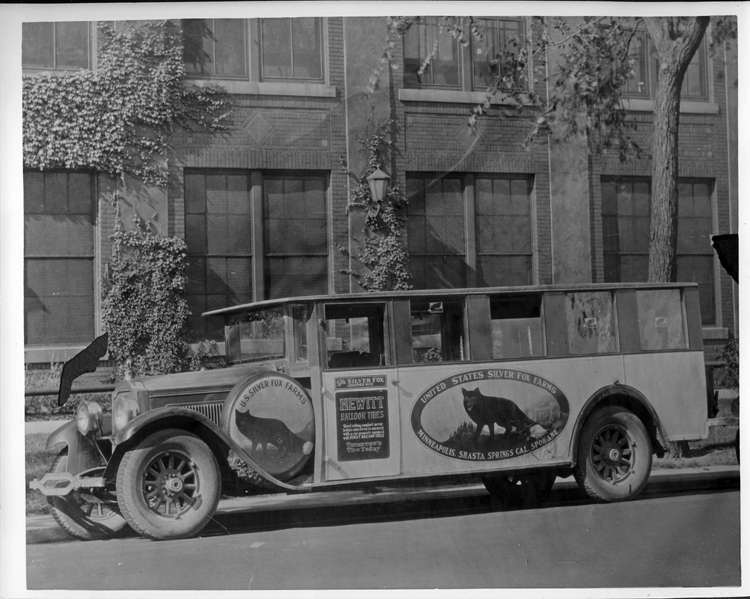 19XX PACKARD BUS AT THE FACTORY-B&W