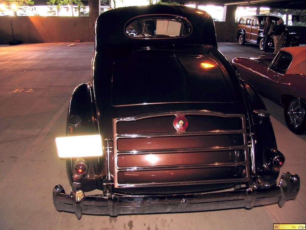 Packard 1935 Twelve 2-4P cpe Mrn rear