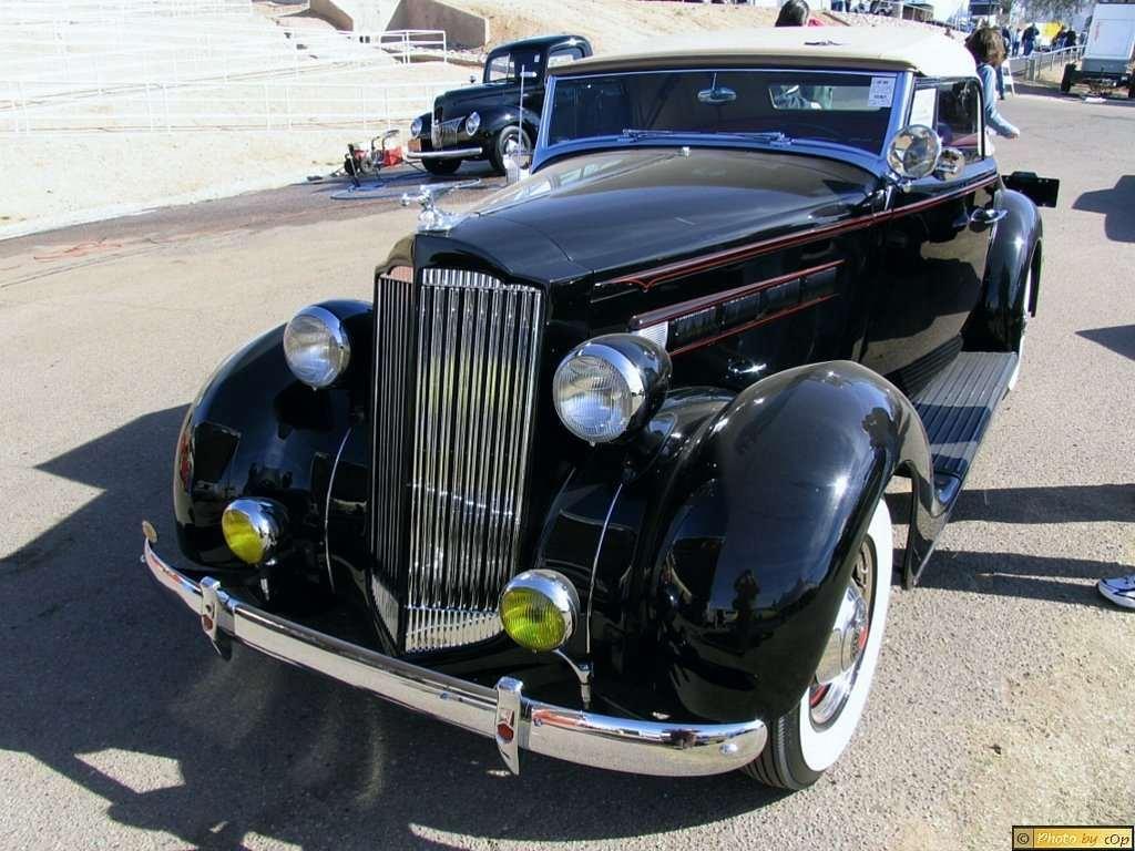 Packard 1937 Mdl 115 2dr cnvt cpe Blk fvls