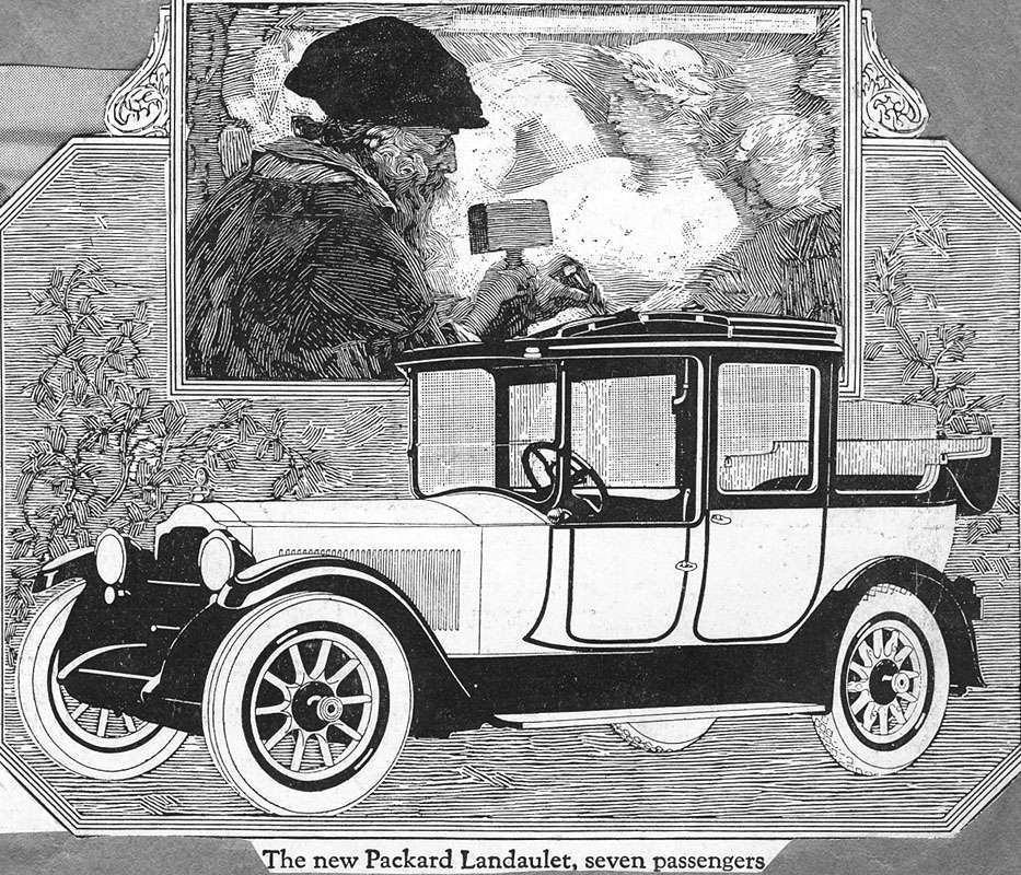 1917 PACKARD 7-PASS. LANDALET-B&W