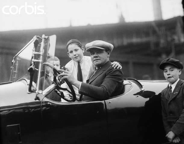 1921 PACKARD WITH BABE RUTH-B&W
