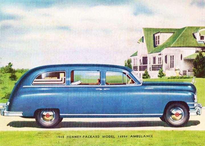 1948 PACKARD-HENNEY 14894 AMBULANCE
