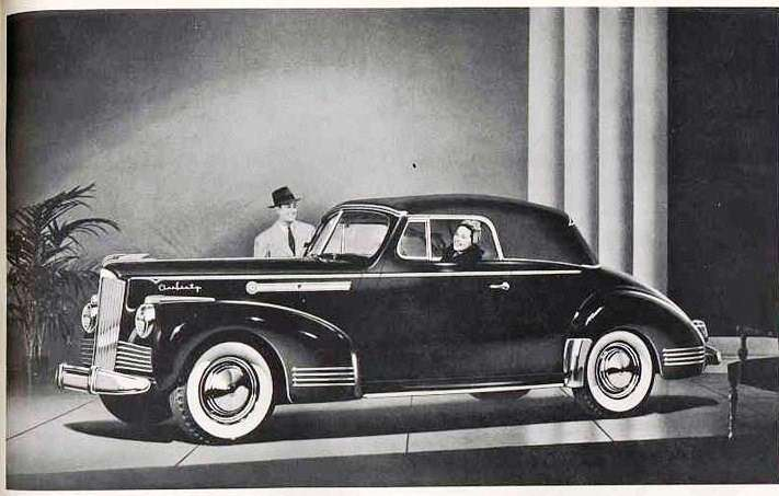 1942 PACKARD SUPER EIGHT 160 CONV COUPE-B&W