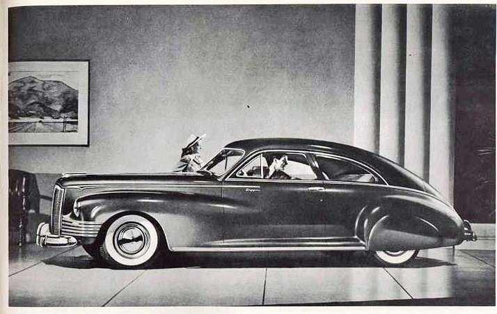 1942 PACKARD CLIPPER SUPER EIGHT 160 CLUB SEDAN-B&W