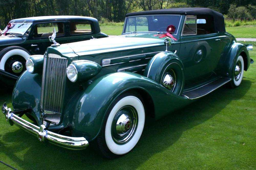 1937 PACKARD V12 COUPE ROADSTER-GREEN