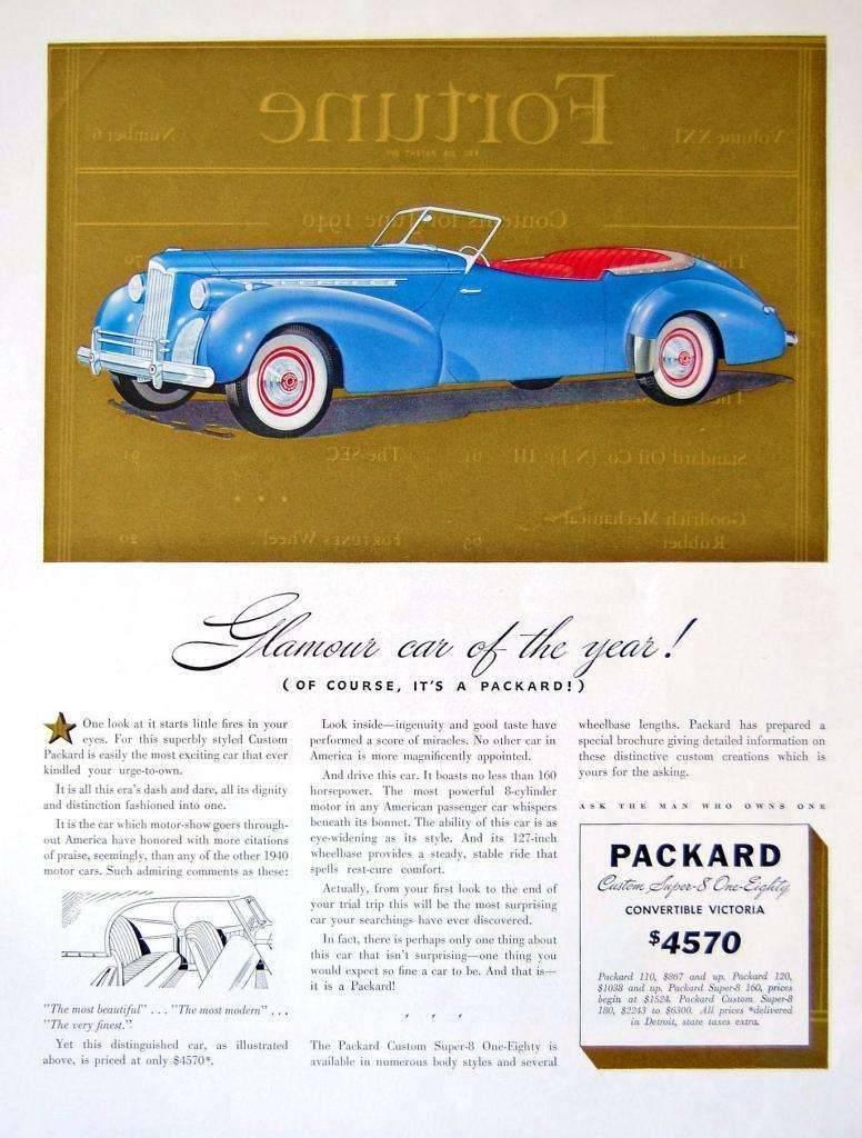 1940 PACKARD DARRIN CONV ADVERT