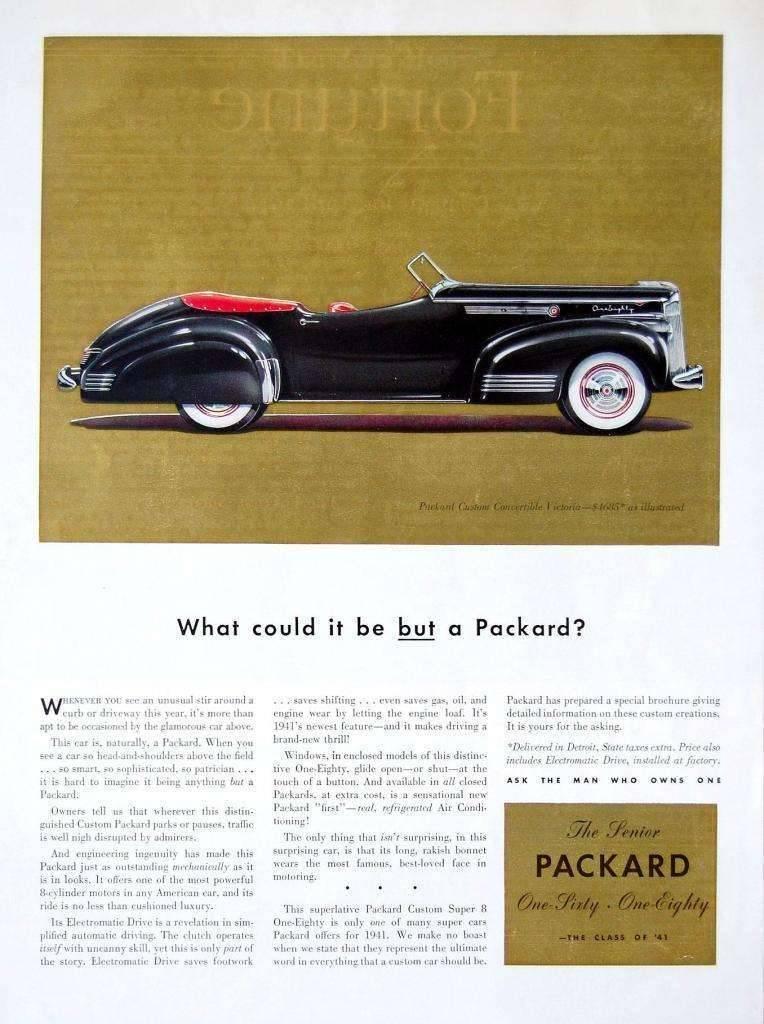 1941 PACKARD CUSTOM SUPER EIGHT CONV ADVERT