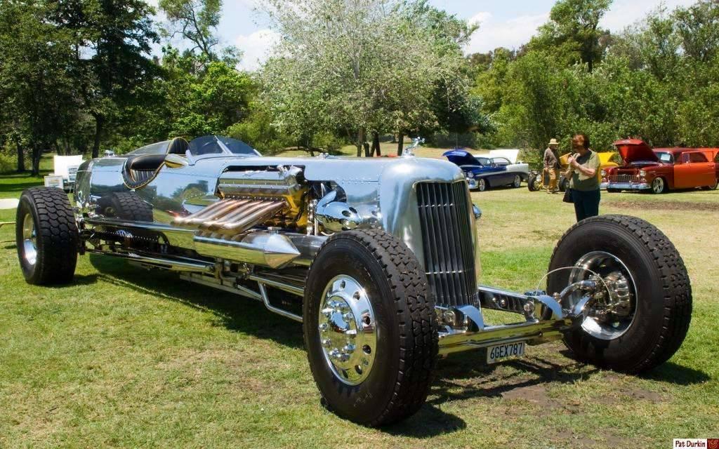 Rodney Rucker's 2,400 ci Packard V12 powered Blastolene Daytona Special - fvr