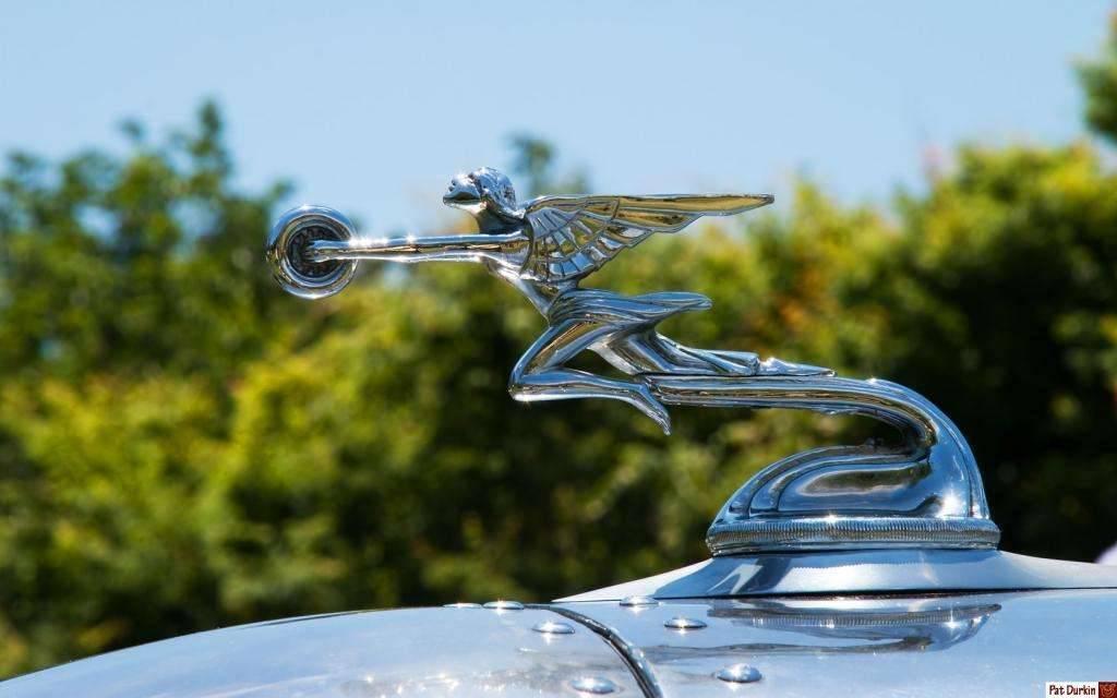 Rodney Rucker's 2,400 ci Packard V12 powered Blastolene Daytona Special - Goddess of Speed, left