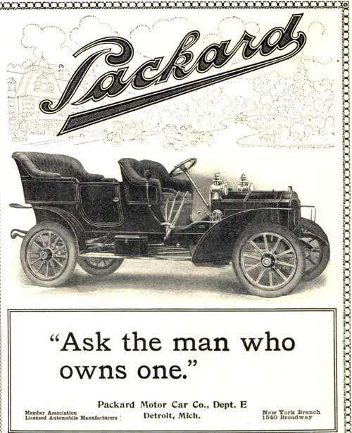1906 PACKARD ADVERT-B&W
