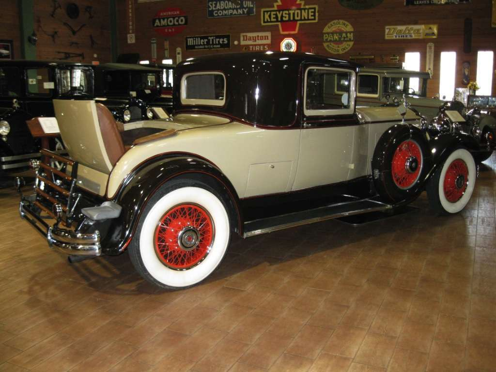 1930 Series 740 Three Window Coupe with Rumble Seat Rear